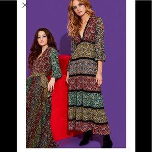 "Alice + Olivia ""Karolina"" paneled print dress NWT"